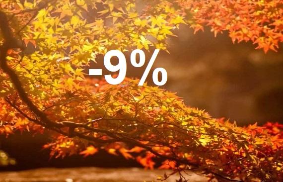 Получите -9% на бронирование!
